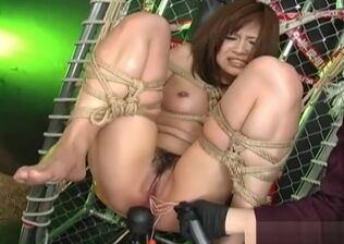 Hogtied ballgagged